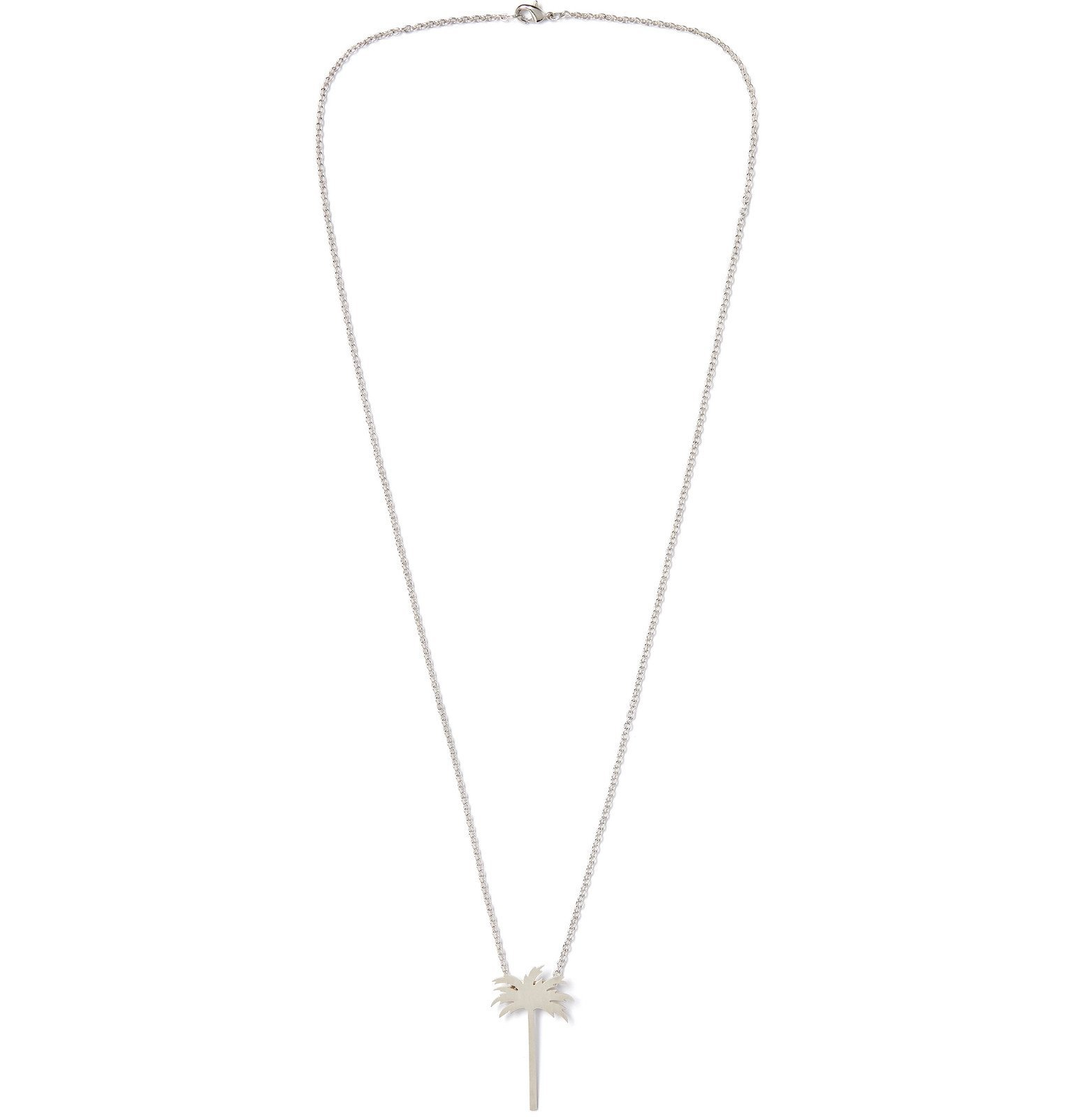 Photo: Palm Angels - Silver-Tone Necklace - Silver