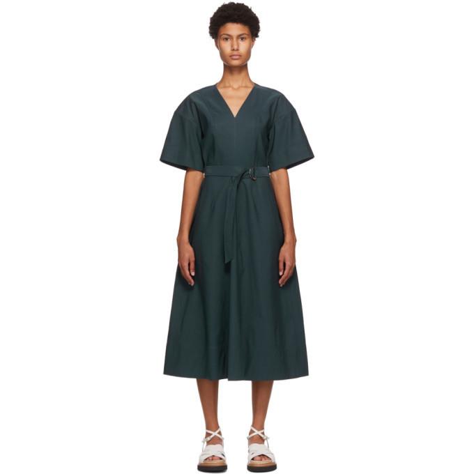 3.1 Phillip Lim Blue Textured Faille Dress