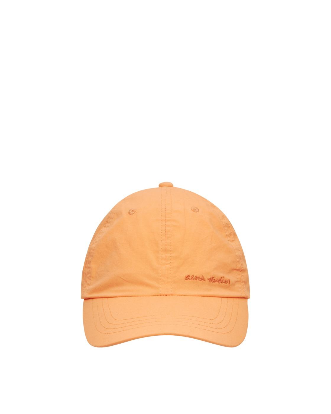 Acne Studios Cotton Baseball Cap Melon Orange
