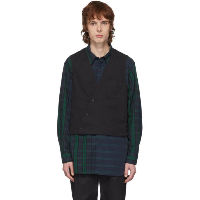 Photo: Engineered Garments Reversible Black Twill Vest