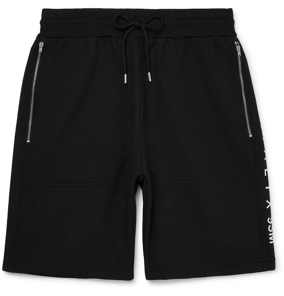 Photo: 1017 ALYX 9SM - Axel Slim-Fit Fleece-Back Cotton-Blend Jersey Drawstring Shorts - Black