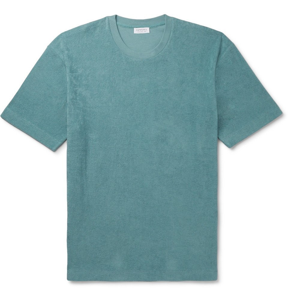 Photo: Sunspel - Cotton-Terry T-Shirt - Teal