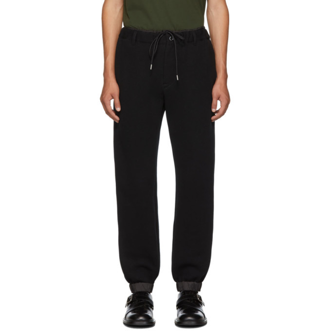 Sacai Black Sponge Lounge Pants