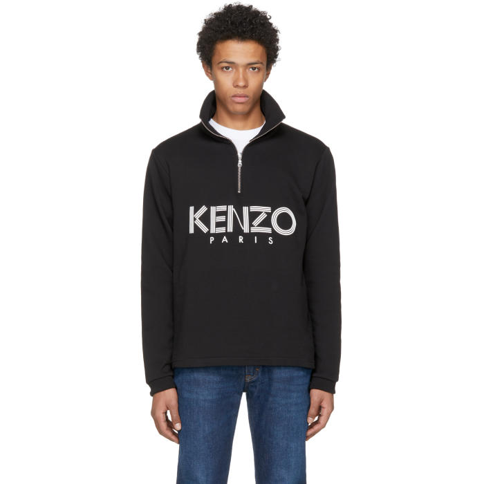 Details about  /Kenzo Classic Logo Black Sweatshirt