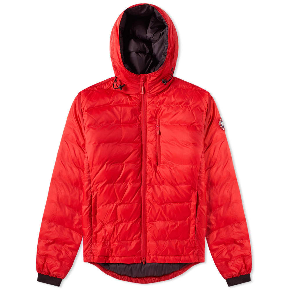 Photo: Canada Goose Lodge Hooded Jacket Red
