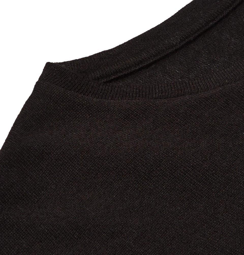 The Elder Statesman - NBA Chicago Bulls Printed Cashmere and Silk-Blend T-Shirt - Black
