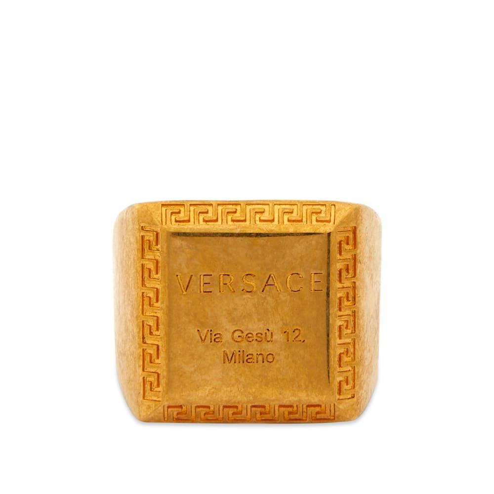 Photo: Versace Logo Signet Ring