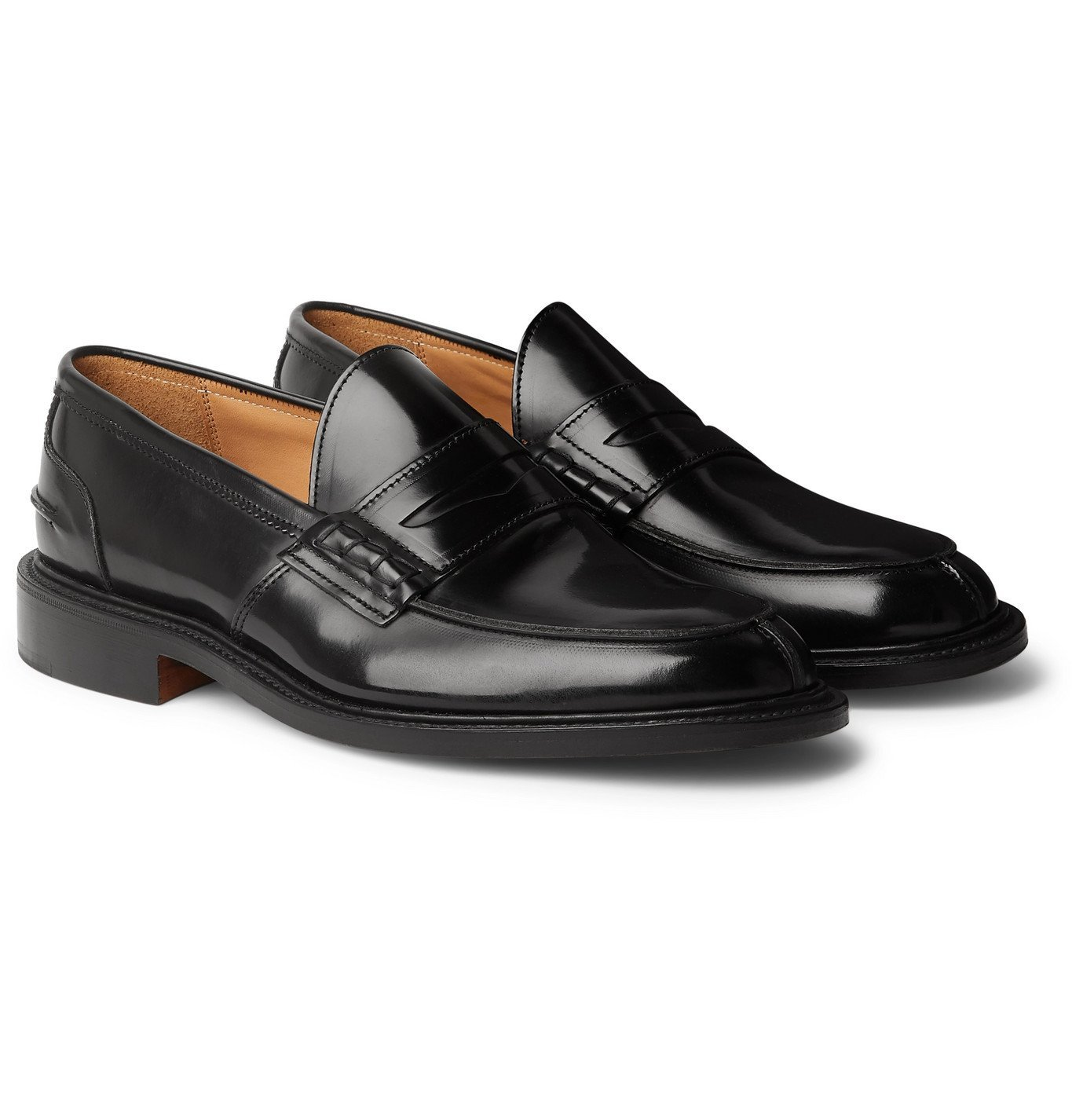 Photo: Tricker's - James Polished-Leather Loafers - Black