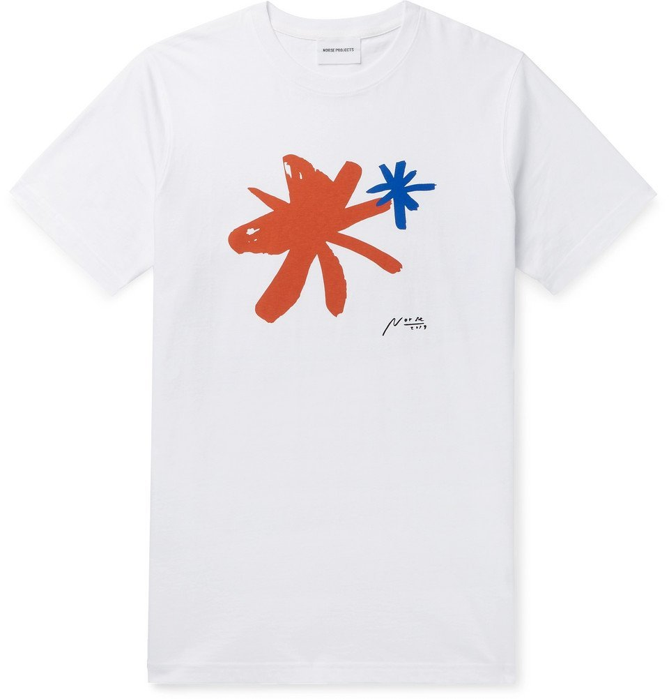 Photo: Norse Projects - Niels Logo-Print Cotton-Jersey T-Shirt - White