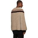 Raf Simons Beige Alpaca Transformer Sweater