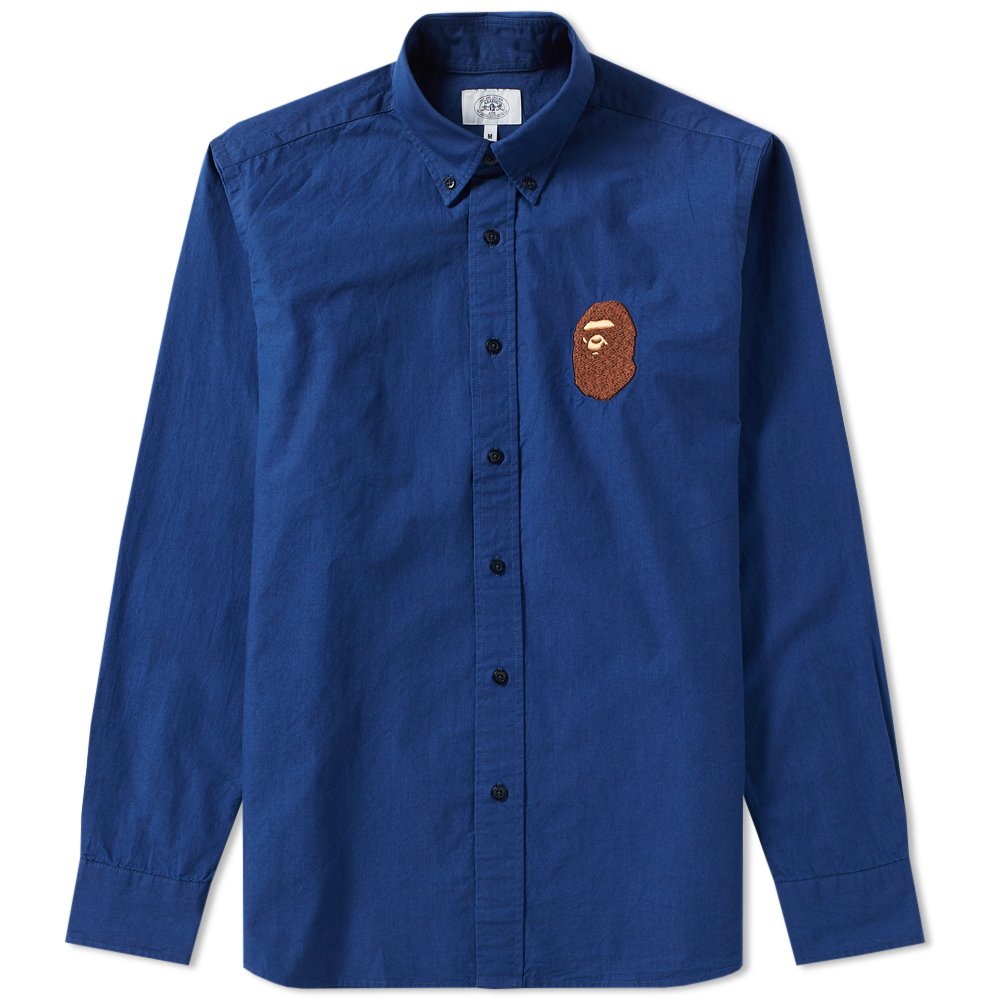 d5112949 A Bathing Ape Embroidery Oxford Button Down Shirt A Bathing Ape