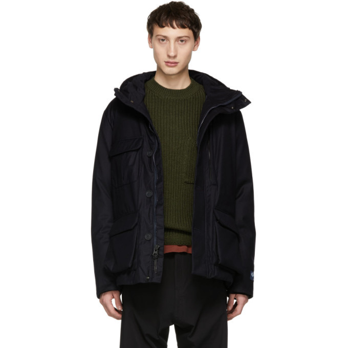 Photo: Woolrich John Rich and Bros Navy Down Loro Piana Mountain Jacket