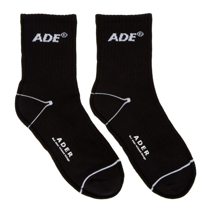 Photo: ADER error Black and Yellow Ade Sewing Socks