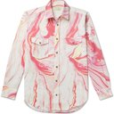 Aries - Marble-Print Cotton-Drill Shirt - Pink