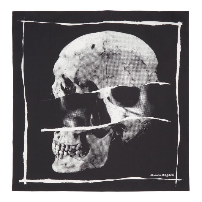 Photo: Alexander McQueen Black Punk Skull Scarf