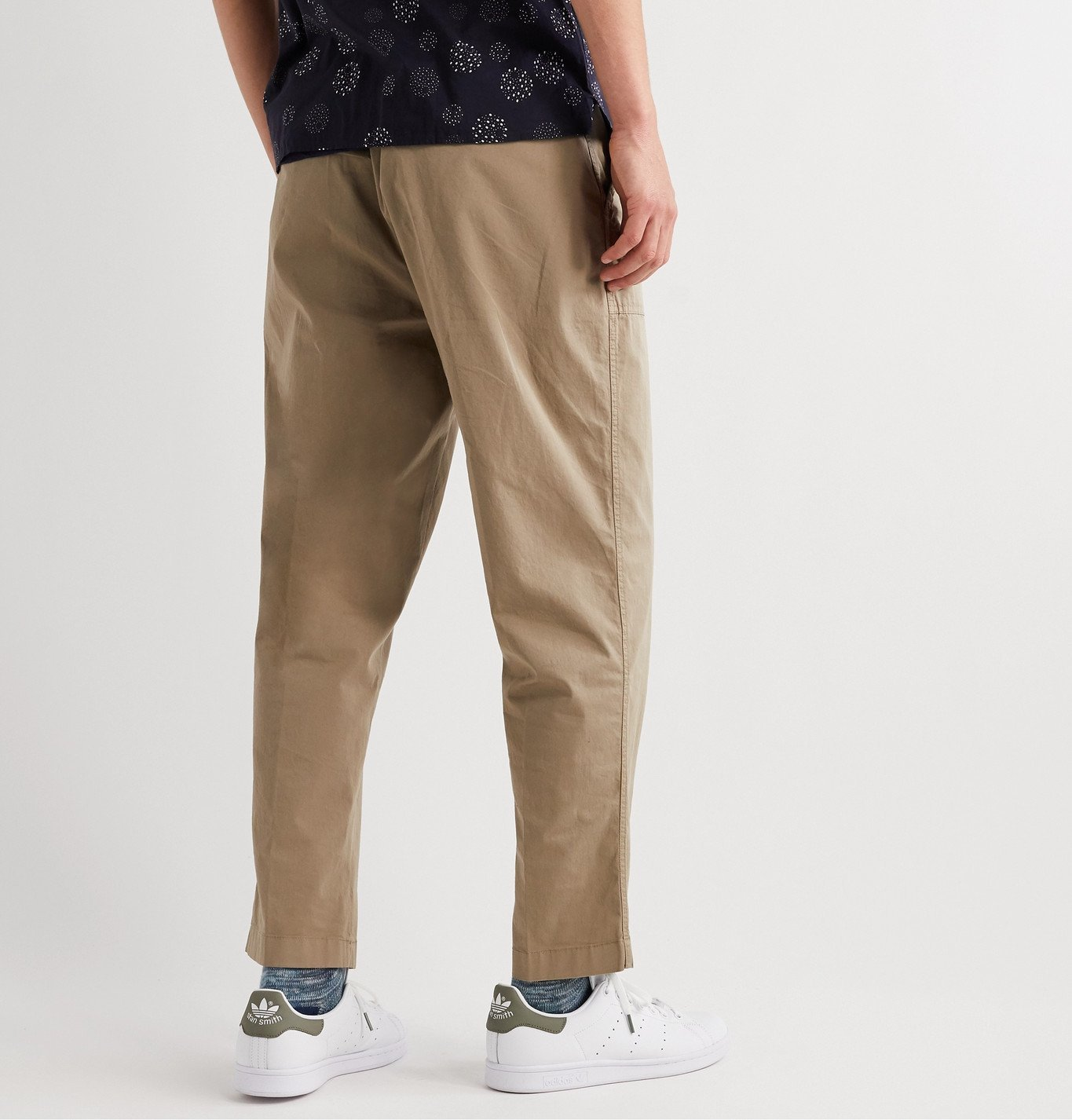 Officine Generale - Paolo Stretch-Cotton Cargo Trousers - Neutrals
