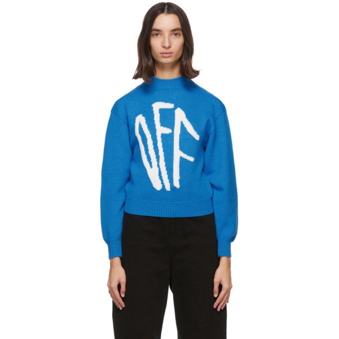 Photo: Off-White Blue Graffiti Sweater