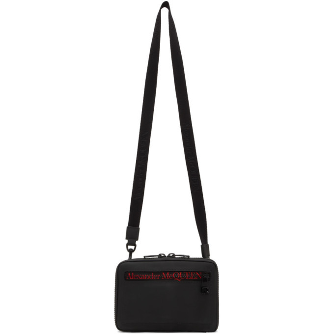 Photo: Alexander McQueen Black Tech Zip Messenger Bag
