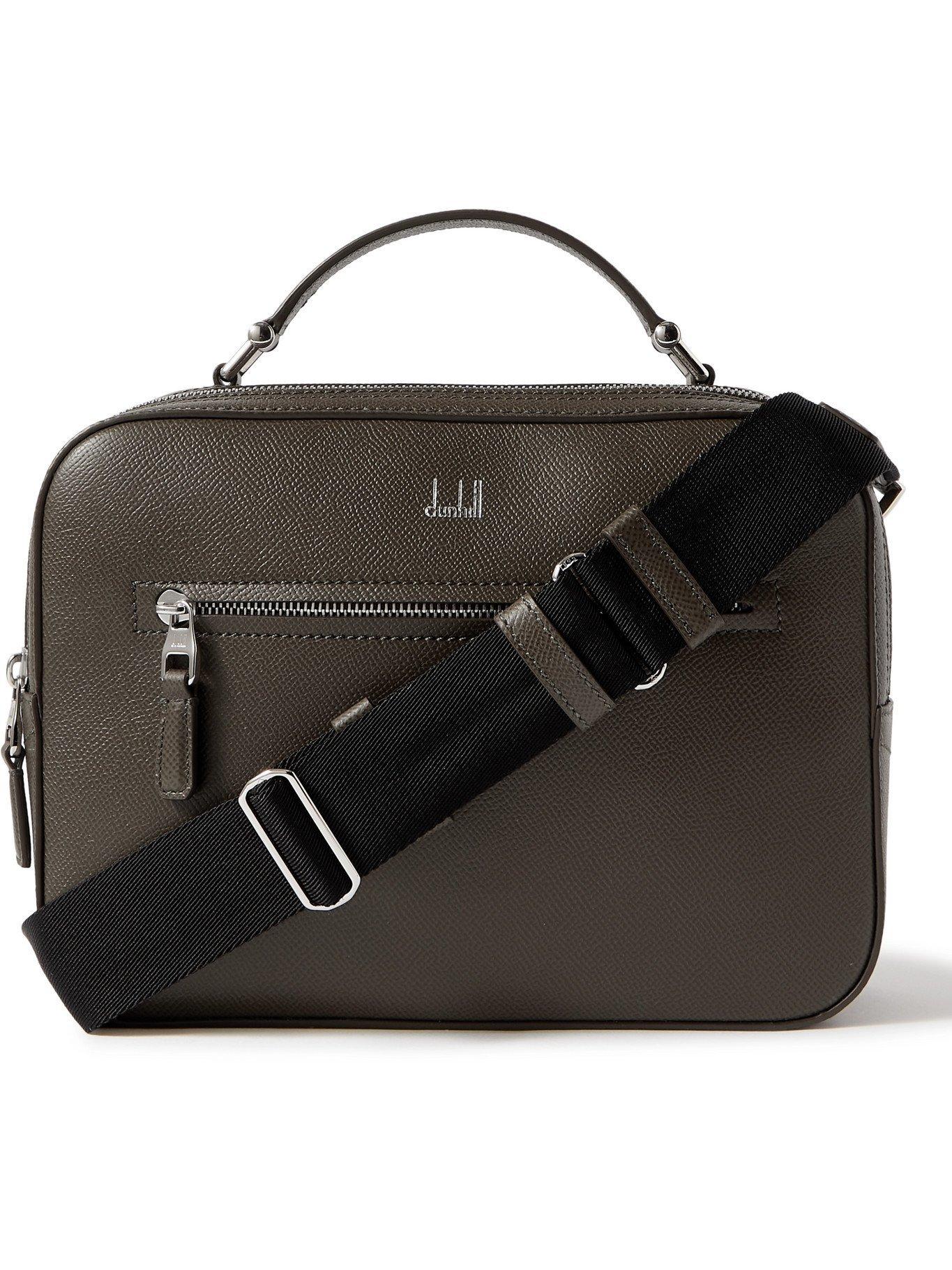 DUNHILL - Cadogan Full-Grain Leather Messenger Bag - Green