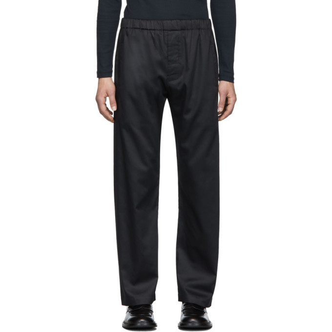 Photo: Lemaire Navy Sunspel Edition Elasticized Trousers