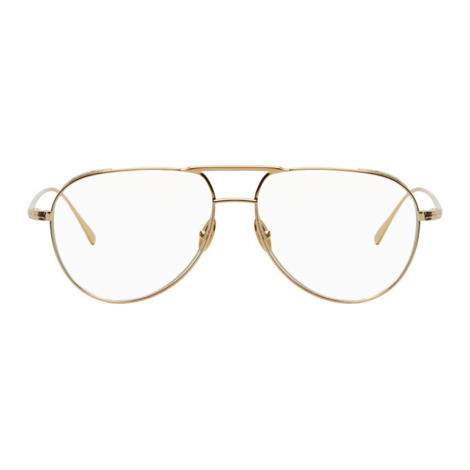 Photo: Tom Ford Rose Gold Blue Block Pilot Glasses