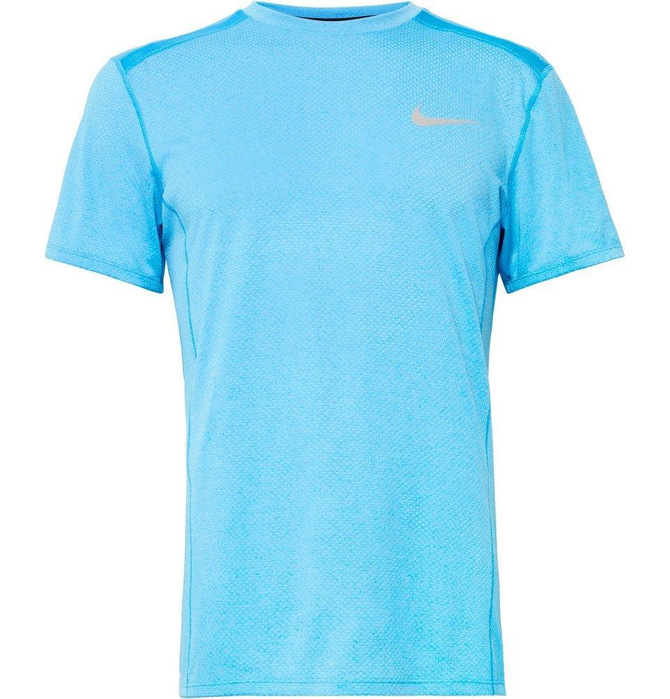 Nike Running - Miler Dri-FIT Mesh T-Shirt - Men - Azure