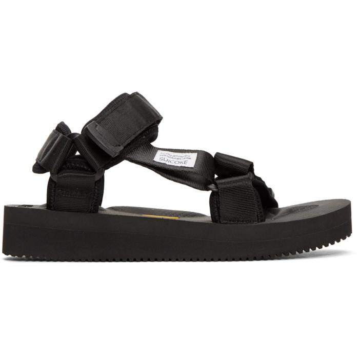 b6f8b0ea67e7 Suicoke Black Depa-V Sandals Suicoke
