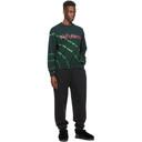 Aries Black and Green Tie-Dye No Problemo Sweatshirt