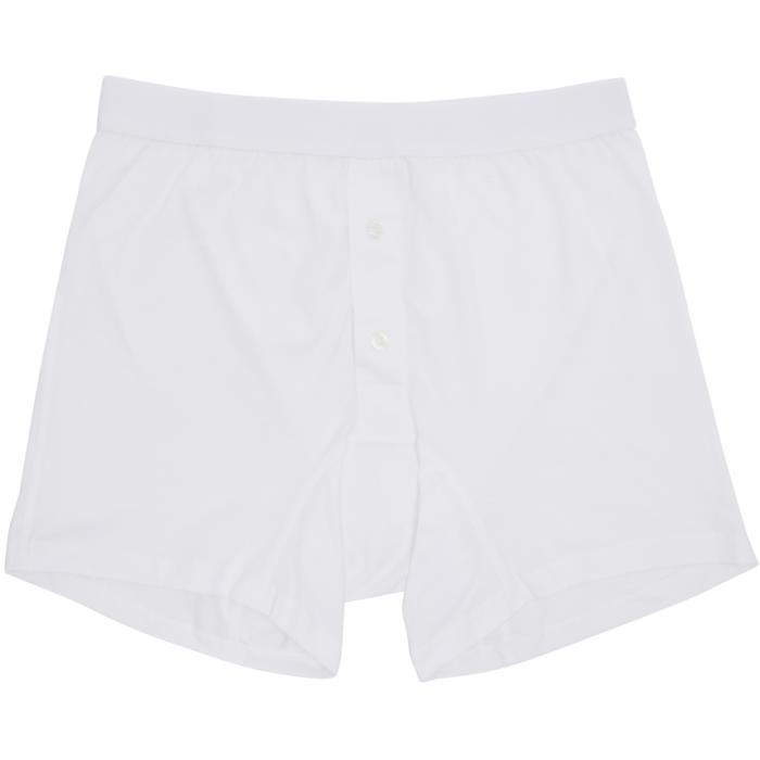 Photo: Comme des Garçons Shirt White Plain Button Down Boxers