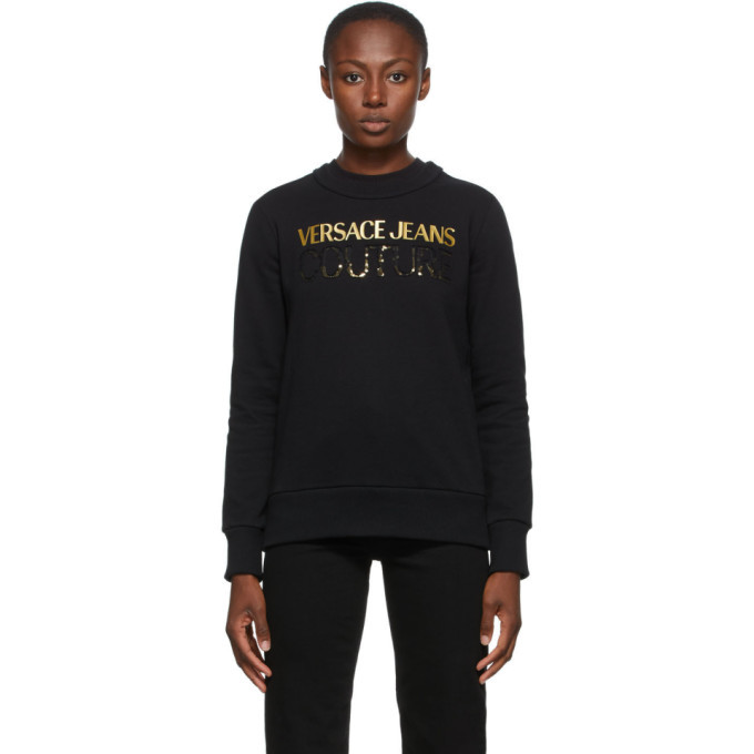 Photo: Versace Jeans Couture Black Institutional Logo Sweatshirt