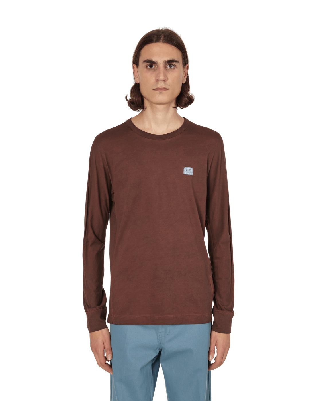C.P. Company Re Colour Longsleeve T Shirt Brunette