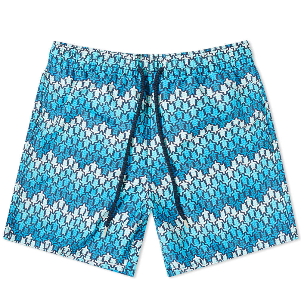 Photo: Vilebrequin Moorea Herringbone Turtles Print Swim Short