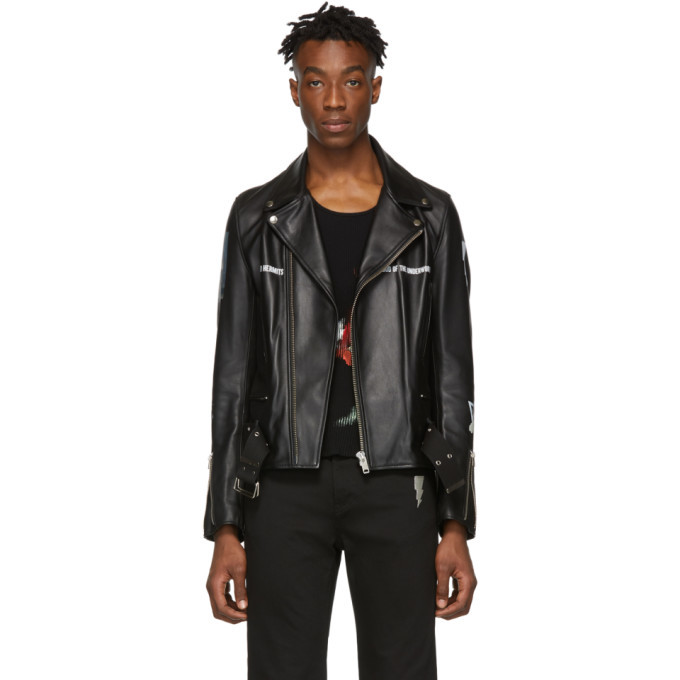 Photo: Undercover Black Leather Dead Hermits Jacket