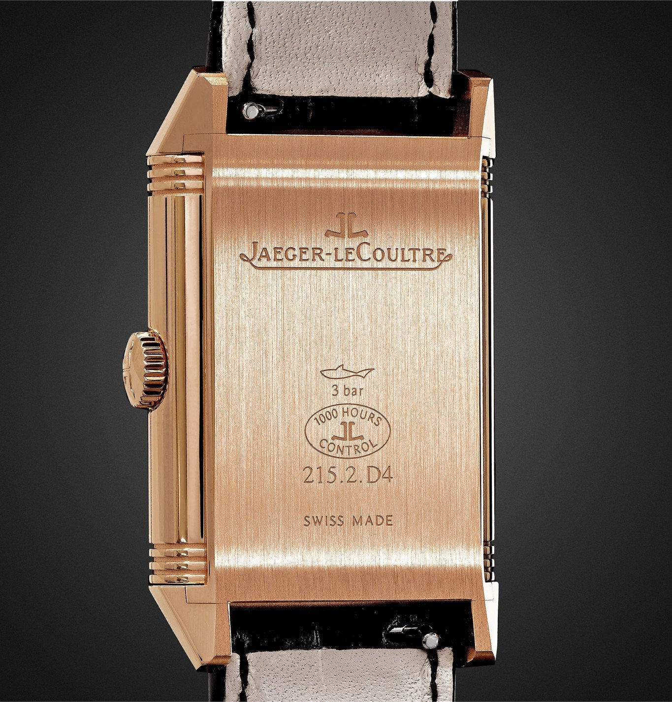 Jaeger-LeCoultre - Reverso Classic Large Duoface Small Seconds Automatic 28.3mm 18-Karat Rose Gold and Alligator Watch - Black