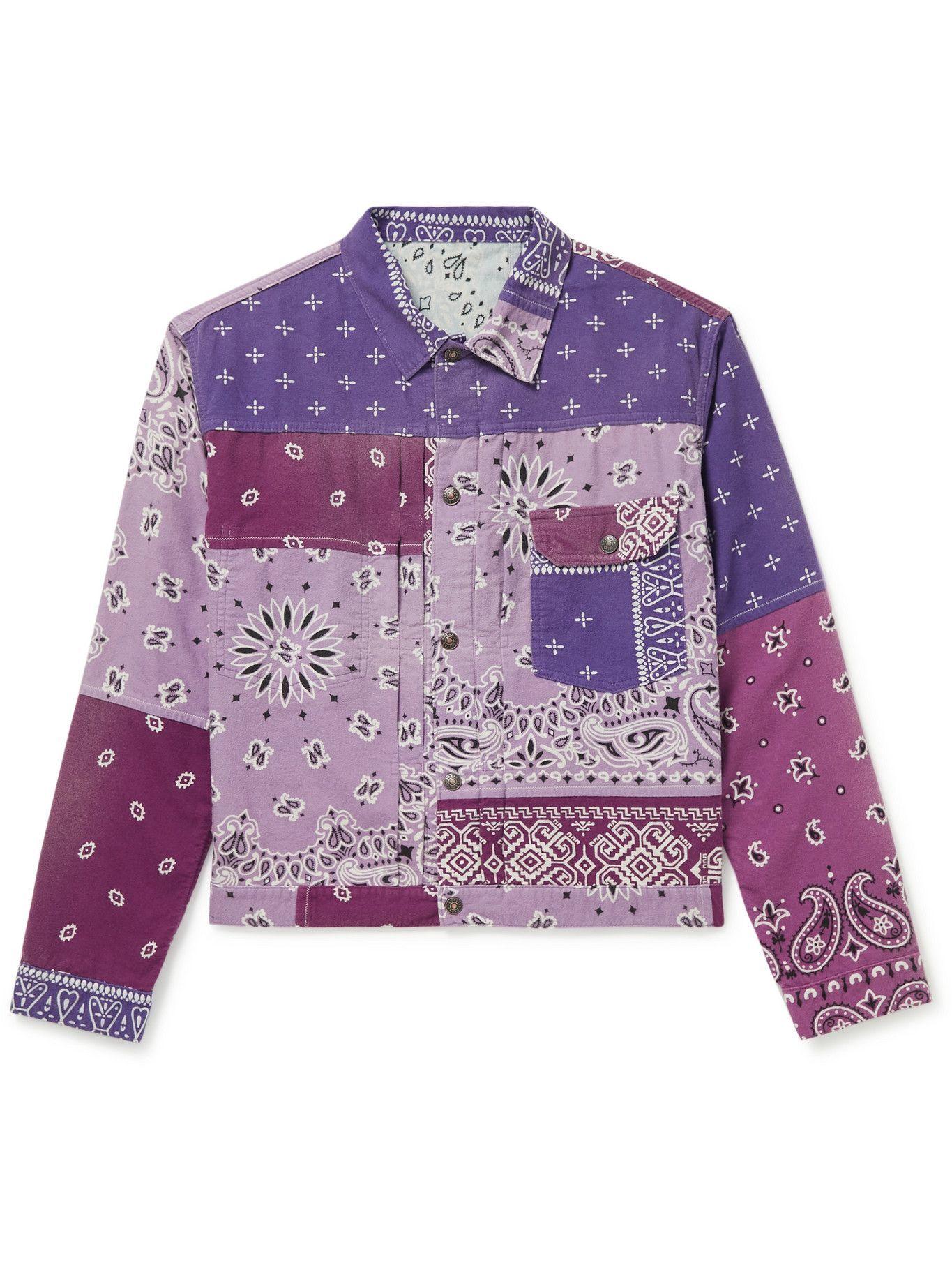 Photo: KAPITAL - Reversible Bandana-Print Felted Cotton Jacket - Purple