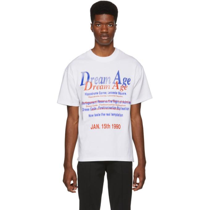 Martine Rose White Pull T-Shirt
