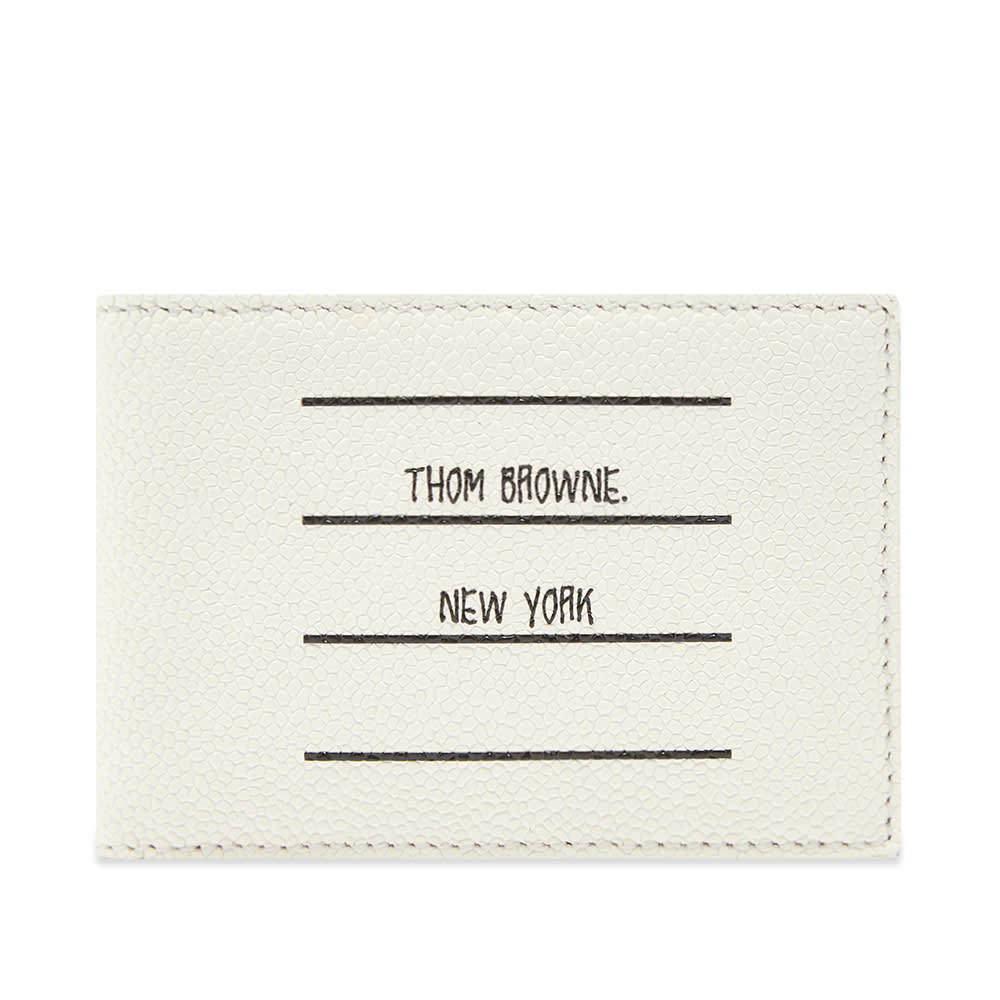 Photo: Thom Browne Printed Label Billfold Wallet