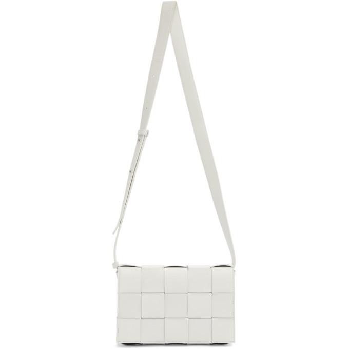 Photo: Bottega Veneta White Intrecciato Casette Bag