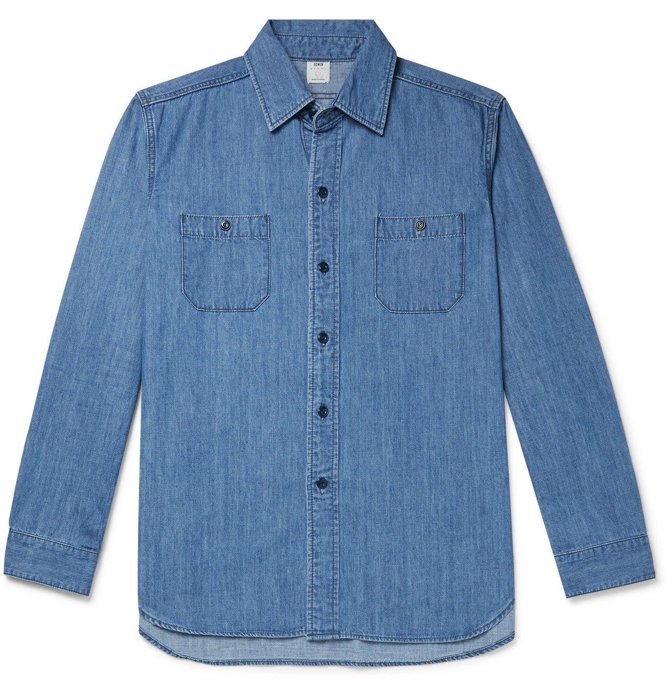 Photo: EDWIN - Denim Shirt - Blue