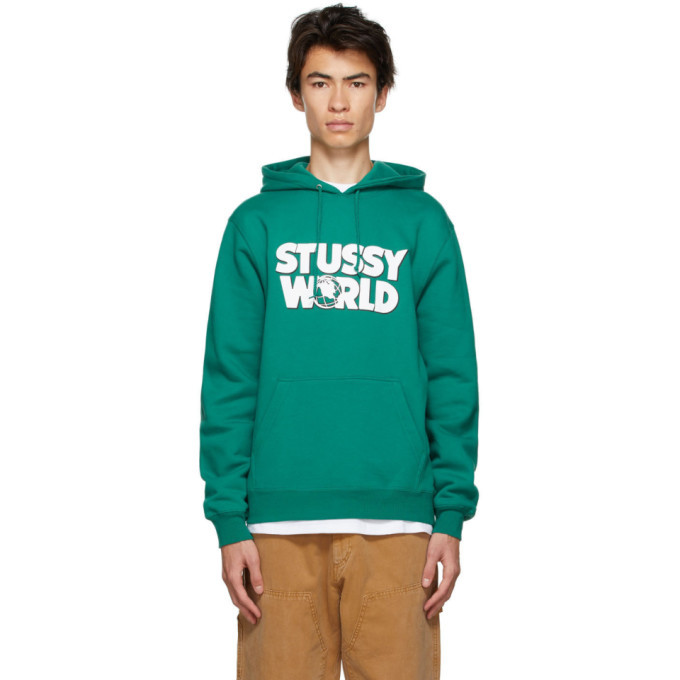 Photo: Stussy Green World Hoodie