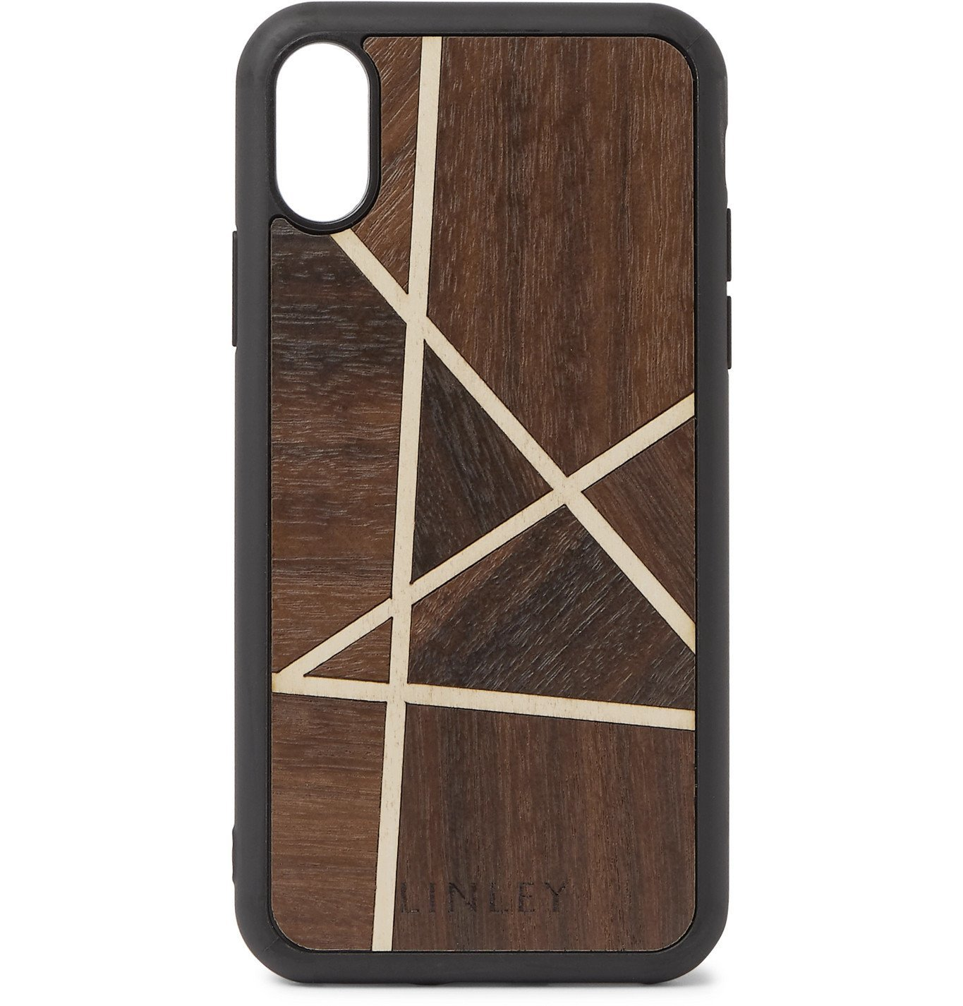 Photo: Linley - Rubber-Trimmed Macassar and Sycamore iPhone X/XS Case - Brown