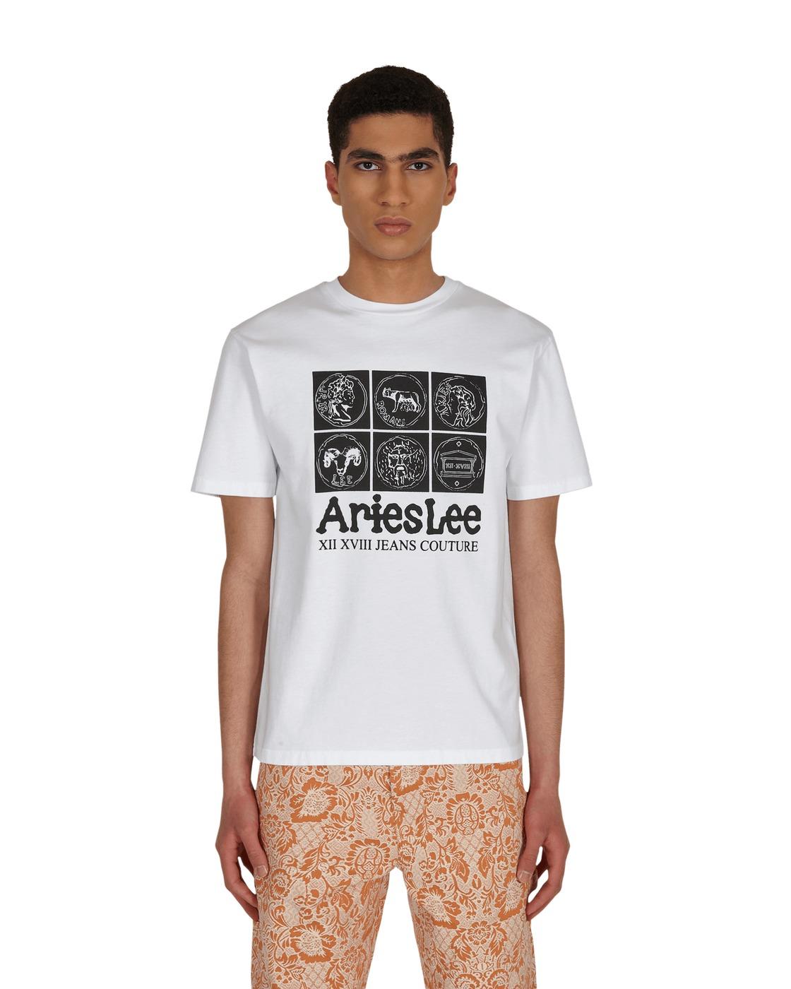 Photo: Aries Collab Lee Coin T Shirt White