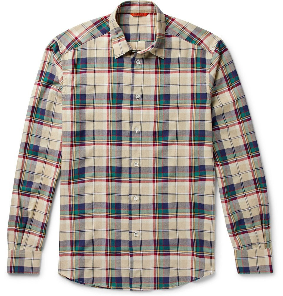 Photo: Barena - Checked Flannel Shirt - Cream