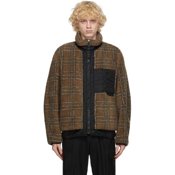 Photo: Solid Homme Beige Plaid Fleece Jacket