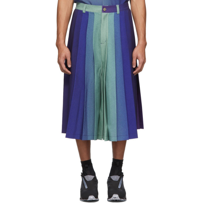 Photo: Keenkee Purple Gradient Pleated Shorts