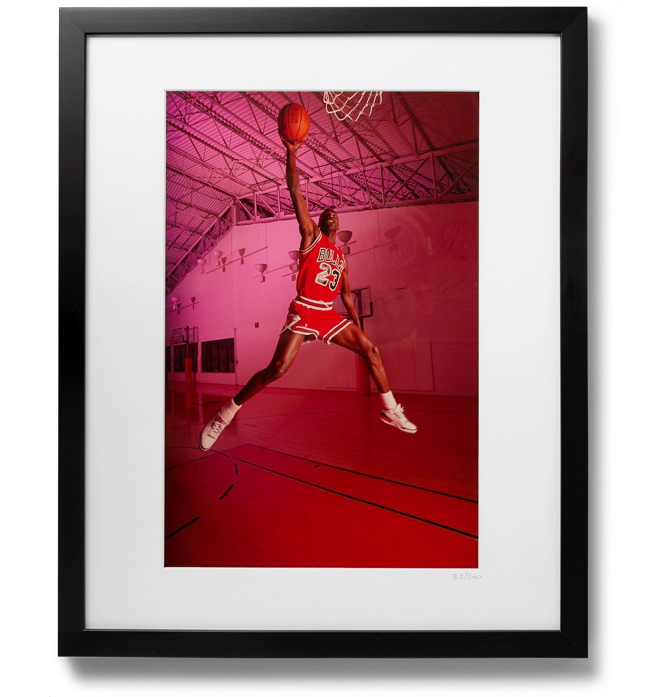 "Photo: Sonic Editions - Framed 1988 Michael Jordan Dunk Print, 16 x 20"""" - Multi"