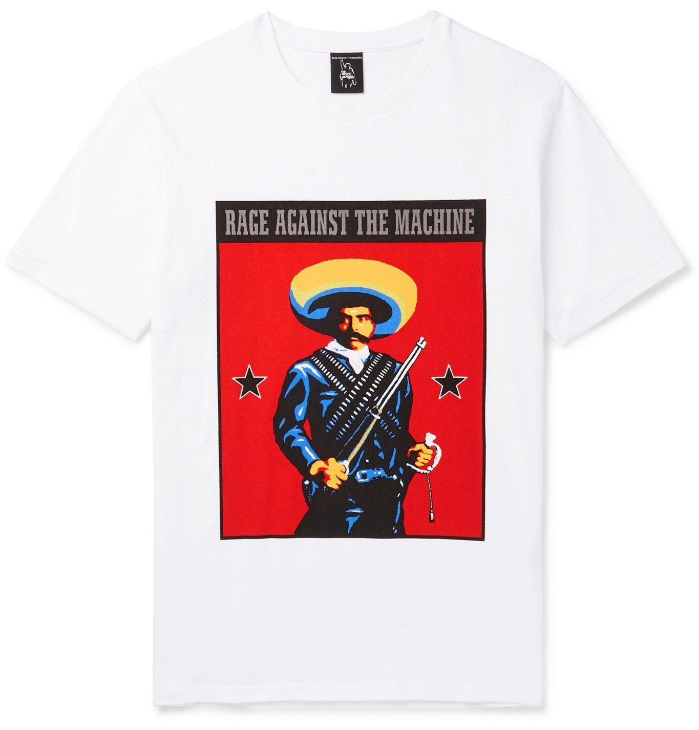 Photo: Wacko Maria - Rage Against The Machine Printed Cotton-Jersey T-Shirt - White