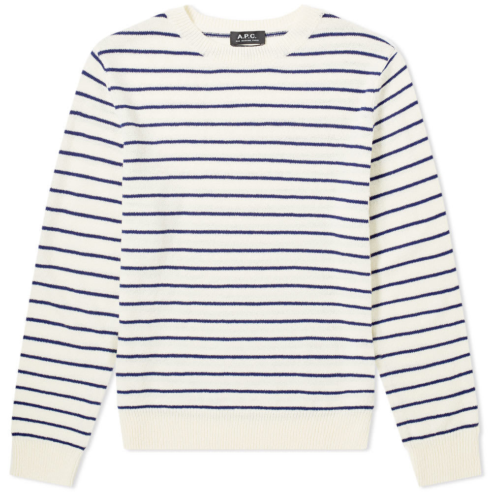 Photo: A.P.C. Striped Knit Crew Sweat