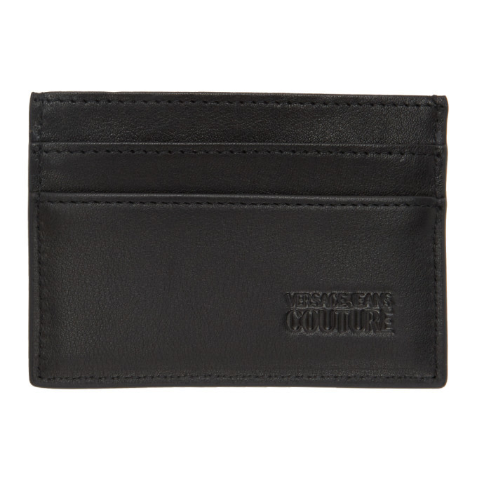 Versace Jeans Couture Black Barocco Card Holder