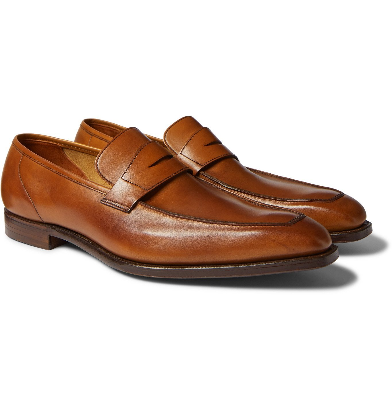 Photo: George Cleverley - George Leather Penny Loafers - Brown